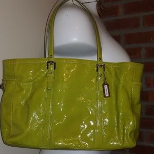 Coach Turnlock Gallery Patent Leather Handbag